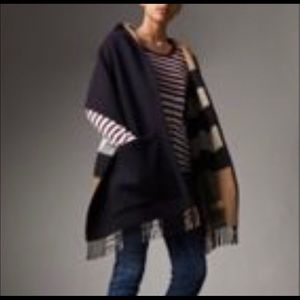 Burberry Helene Check Wool & Cashmere Hooded Wrap